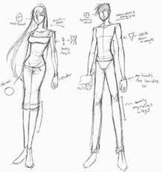 how to draw a manga body - Google Search