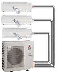 Mitsubishi Mr Slim Ductless Mini Split Heat Pump