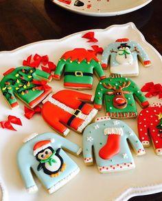 "39 Likes, 1 Comments - Carola Vidal (@galletas_decoradas_chile) on Instagram: ""#uglysweater #christmascookies"""
