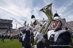 PENN STATE – FOOTBALL 2013 – Members of the Penn State Blue Band play at Beaver Stadium. Penn State beat Eastern Michigan, 45-7. Joe Hermitt, PennLive.com
