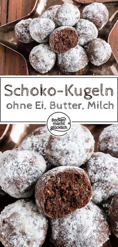 Vegan chocolate cookies without margarine Baking makes you happy - Delicious chocolate cookies without butter, egg, margarine and refined sugar: no problem at all wit - Vegan Chocolate Cookies, Delicious Chocolate, Chocolate Recipes, Baking Chocolate, Cookies Vegan, Breakfast Biscuits, Breakfast Cookies, Breakfast Recipes, Vegan Christmas