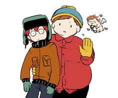 "Kyle & Cartman ~ ""Stay away from my man, bitch. Eric Cartman, South Park Anime, South Park Fanart, Adventure Time, Stan Marsh, Tim Tam, Creek South Park, We The Kings, Slash"