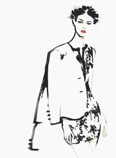 Fashion illustration - stylish fashion drawing // Katerina Murysina