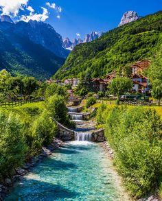 Waterfalls in Molveno, Italy