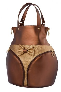 I remember the corset purse was popular in high school but a butt purse... Hmmm...