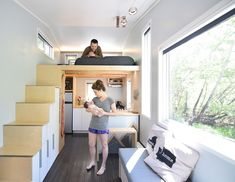 How one couple adapted a 204-square-foot tiny house for their new baby