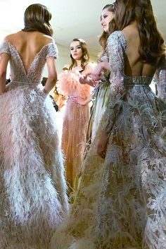Feather love# Elie Saab Spring 2015 couture