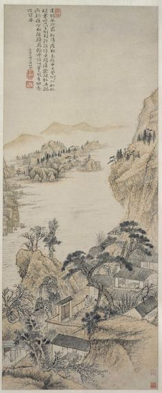 清代 - 石濤 - 對菊圖                             北京故宫博物院藏                                         Shi Tao (1642–1707) was a Chinese landscape painter and poet during the early Qing Dynasty (1644–1911)