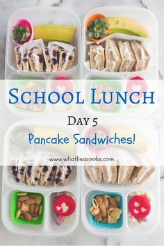 Pancake sandwiches for kids school lunch!
