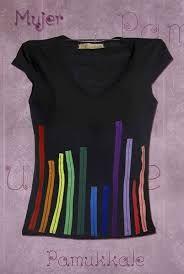 camiseta cintas colores (Diy Ropa Sueter)