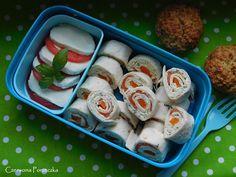 Czerwona Porzeczka: Roladki z tortilli z łososiem i zielonym ogórkiem Sushi, Ethnic Recipes, Blog, Blogging, Sushi Rolls