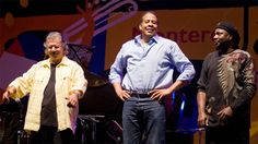 Chick Corea, Stanley Clarke and Lenny White at the Monterey Jazz Festival.