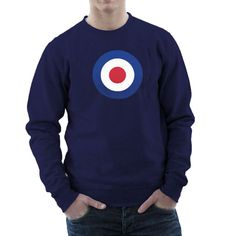 A design classic — the #Airforce Roundel — on your very own shirt. Used by the cool British #Mods of the 1960s, by many a rock band and now you. Choose between the British RA... #retro #england #raf #britain #mods #italy #irish #airforce #wwii
