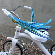 Bicycle Streamers - Retro, Cool & Handmade - Ocean Blues
