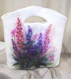 Wild Lupine Wool felt Purse handbag | Flickr - Photo Sharing!