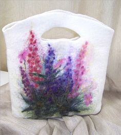 Wild Lupine Wool felt Purse handbag   Flickr - Photo Sharing!