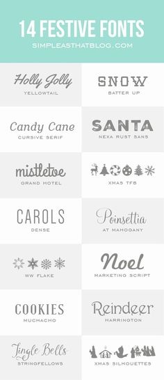 14 Festive Fonts for the Holidays   #font #holidays #christmas (scheduled via www.tailwindapp.com)