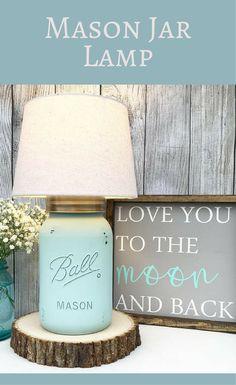 Mason Jar Lamp, Seafoam, Lamp, Mason Jar, Farmhouse Lighting, Lamp, Home Decor, Home Lighting, Farmhouse decor, Country Home Decor, Rustic Lamp, Rustic decor #ad