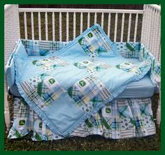 New JOHN DEERE baby Crib Bedding Set with by alexiskleegrandma, $275.00