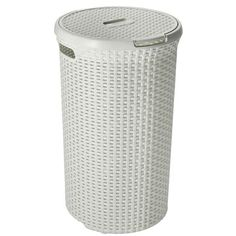 ray grahams Curver Rattan Round Laundry Basket For Dirty Washing 48 Litre