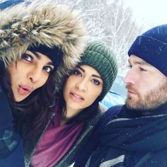 The people I love seeing everyday on @abcquantico with @priyankachopra and #Jake McLaughlin