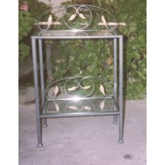 Bedside Table Wrought Iron. Customize Realizations. 883