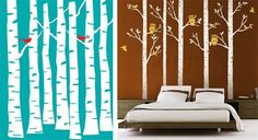 Use an X-ACTO knife and frogtape to make DIY wall decals. Then just paint, let dry, and peel!