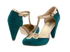 Teal colored heels...perfect for a Christmas party if u could find the right dress! Seychelles All Dressed Up ($95)