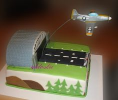 Airplane grooms cake-dark chocolate of course!