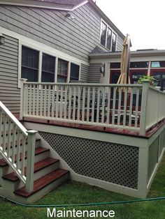 This mahogany deck had its annual maintenance. It's ready for a funfilled summer, and an eventful winter.