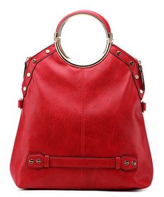 Loving this Red Circle-Handle Satchel on #zulily! #zulilyfinds