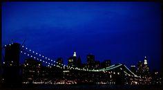 Lights over Brooklyn Bridge