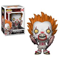 Stephen King's IT - Pennywise with Spider Legs Vinyl Figure From the 2018 version of Stephen King's It comes a stylized vinyl figure of Pennywise with Spider Legs! This It Pennywise Spider Legs Pop! Vinyl Figure measures approximately 3 tall. Pop Vinyl Figures, Funko Pop Figures, It Pennywise, Kill La Kill, Chucky, Batman Figures, Action Figures, Action Toys, Disney Pixar