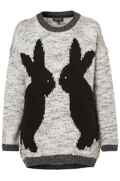 Knitted Mirror Bunny Jumper