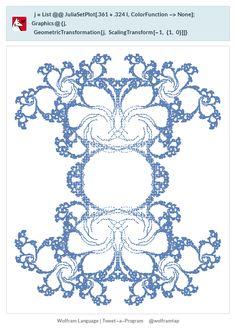 j=List@@JuliaSetPlot[.361+.324 I,ColorFunction->None];Graphics@{j,   GeometricTransformation[j, ScalingTransform[-1, {1, 0}]]}