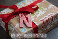 More Like Home: Salt Dough Gift Tags x2