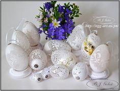 Ażurowe pisanki jak haft i koronki - Bogusława Justyna Goleń Polska - Easter eggs inspired by embroidery and lace