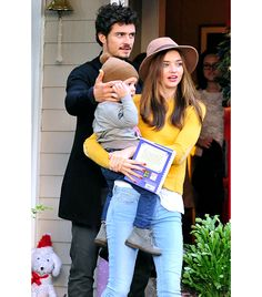 Miranda Kerr, Orlando Bloom + Flynn. They are actually so perfect!