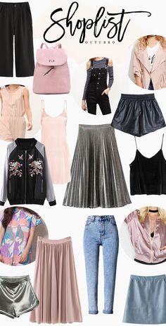 Lista com as roupas escolhidas no mes de outubro em lojas internacionais - O MUNDO DE JESS