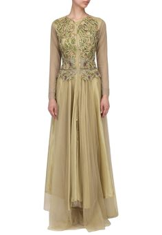 ad7116bffdcd65 Gold drop waist fitted gown available only at IBFW Pernia Pop Up Shop, Drop  Waist