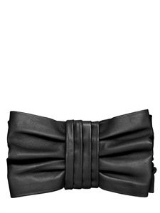 RED VALENTINO - BOW NAPPA LEATHER CLUTCH - LUISAVIAROMA - LUXURY SHOPPING WORLDWIDE SHIPPING - FLORENCE