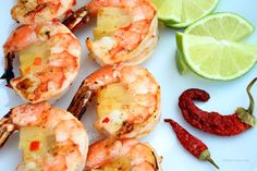 These Gluten Free Grilled Chili Lime Pineapple Shrimp are a wonderful mix of Sweet and Spicy. The Chili and Lime Compliment the Pineapple and Shrimp...