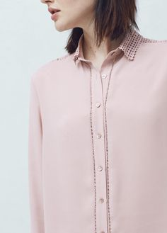 Chemises empiècements crochet | MANGO