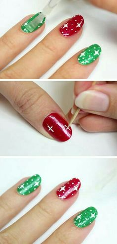 : 20 Adorable Christmas Nail Designs & Step by Step Tutorials - Healthy Tips/Ide. - - : 20 Adorable Christmas Nail Designs & Step by Step Tutorials - Healthy Tips/Ideas Diy Christmas Nail Designs, Nail Designs Easy Diy, Short Nail Designs, Easy Christmas Nail Art, Christmas Design, Xmas Nails, Holiday Nails, Diy Nails, Cute Nails