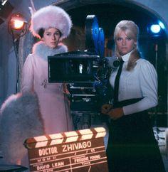 Geraldine Chaplin and Julie Christie on the set of Doctor Zhivago