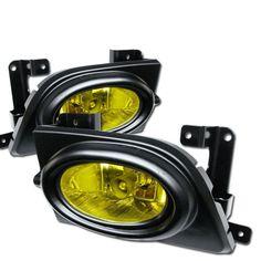( Spyder ) Honda Civic 06-08 4Dr OEM Fog Lights W/Switch - Yellow
