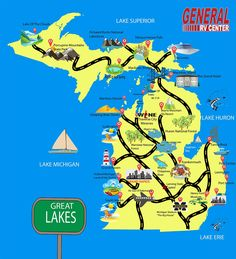 Michigan Camping Guide Road Trip Through Michigan By RV & See the Sites!