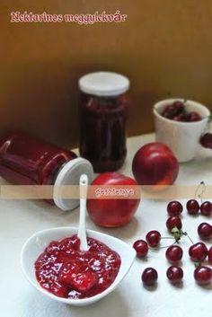 Gesztenye receptjei: Nektarinos meggylekvár Cherry, Fruit, Food, Eten, Meals, Cherries, Diet