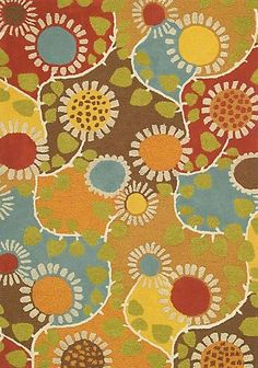 """It's time to """"Rise and Shine"""" with this cheerful 100% wool hand-tufted area rug from CompanyC. We have the 2'6""""x8' runner in stock at More Than Fine Framing."""