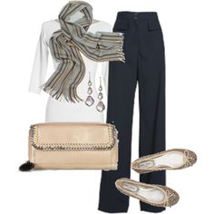 Poplin Pant, created by donnavaught.polyvore.com
